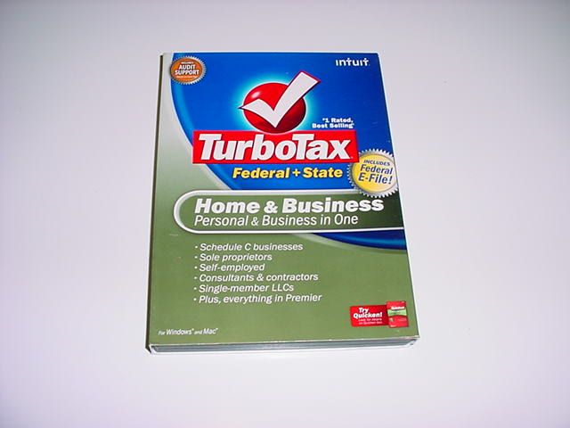 New in box. Turbotax 2007 Home /& Business with state
