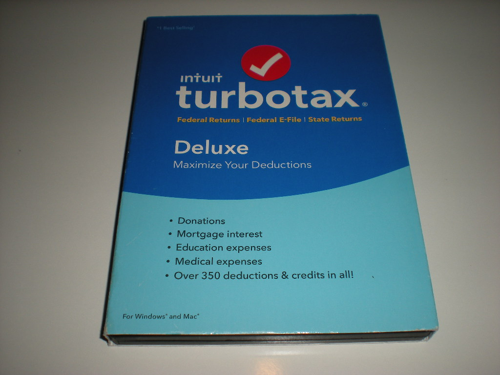 Turbo Tax New Sealed Intuit TurboTax Deluxe 2016 Federal ONLY no State